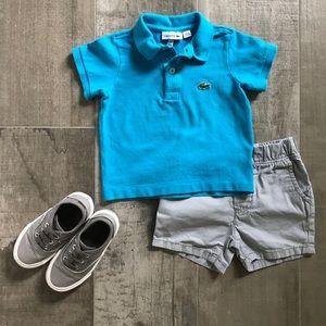 Toddler Boy's Lacoste Polo Ibiza Blue Size 2